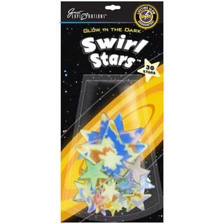Glow In The Dark Pack-Swirl Stars 30/Pkg
