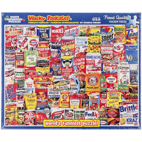 """Jigsaw Puzzle 1000 Pieces 24""""X30""""-Wacky Packages"""