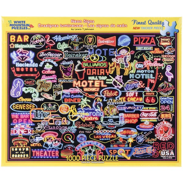 "Jigsaw Puzzle 1000 Pieces 24""X30""-Neon Signs"
