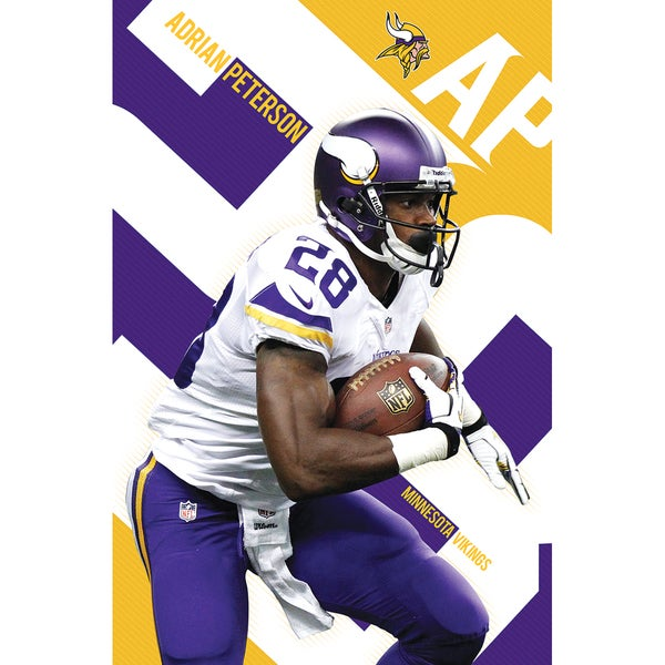 Adrian Peterson Poster 22inX34in