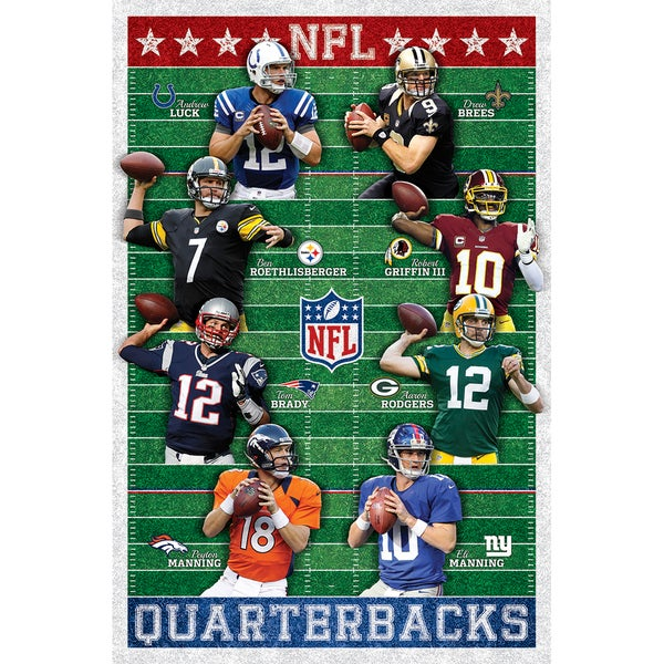 NFL Quarterbacks Poster 22inx34in