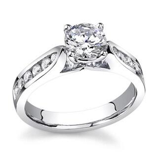 18k White Gold 1 1/5ct TDW Certified Diamond Engagement Ring (G-H, SI1-SI2)