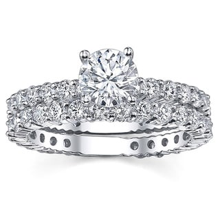14k White Gold 2 1/5ct TDW Diamond Bridal Ring Set (G-H, SI1-SI2)