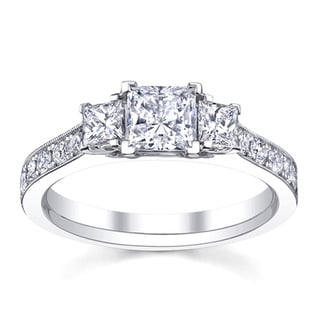 14k White Gold 1 1/2ct TDW Anniversary Diamond Engagement Ring (H-I, SI1-SI2)