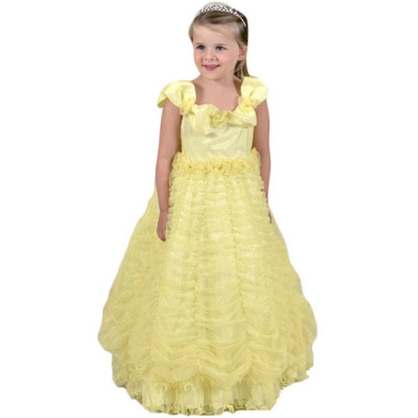 Sweetie Pie Girls Yellow Organza Princess Dress