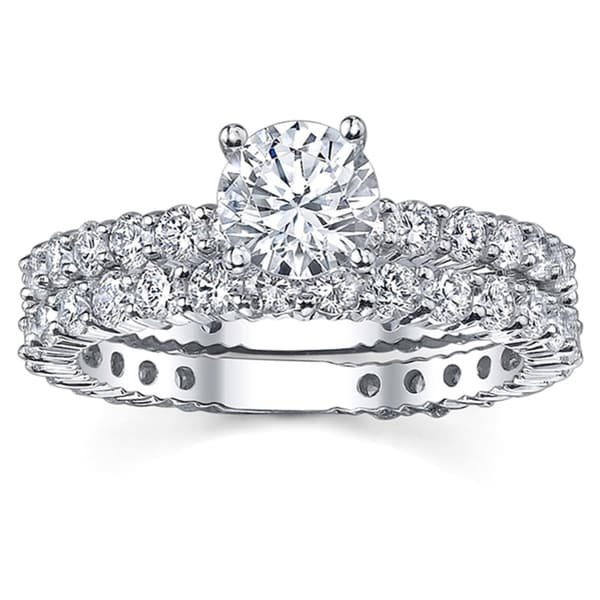 18k White Gold 1 2/5ct TDW Diamond Engagement Ring (G-H, SI1-SI2)