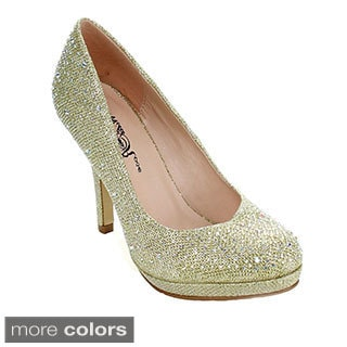 Wildrose Women's 'Regina-01' Glittery Dress Pumps