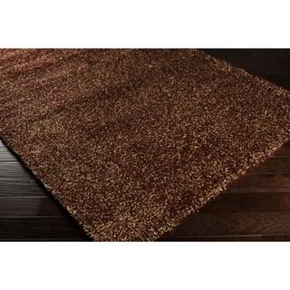 Kay Burgundy/Gold Shag Polypropylene Rug (7'10 x 10'6)