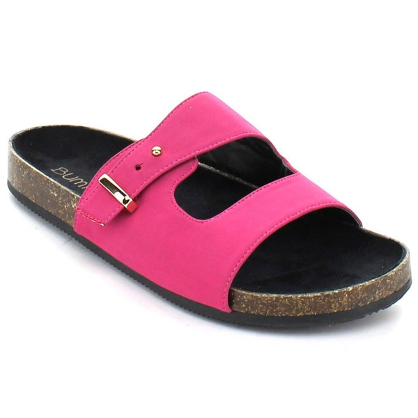 Bumper Women's 'Taja-02' Wide Strap Casual Sandals