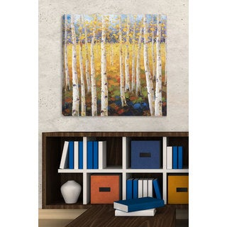 Portfolio 'Birch Forest' Large Printed Canvas Wall Art
