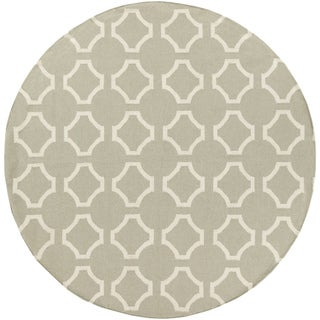Hand-Woven Shefford Contemporary Wool Rug (8' Round)