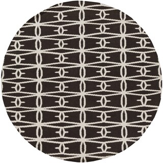 Hand-Woven Shanklin Contemporary Wool Rug (8' Round)