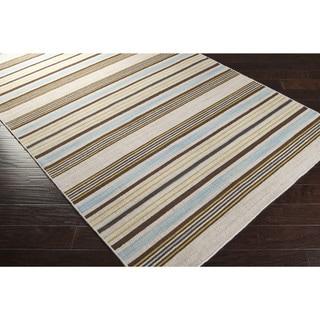 Hand-Woven Hertford Flatweave Wool Rug (3'6 x 5'6)