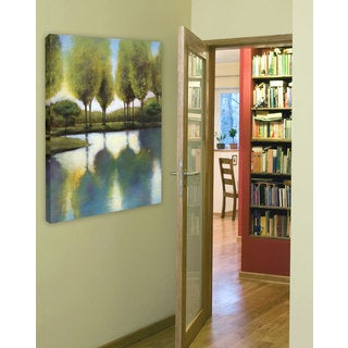 Portfolio 'Trees in Reflection' Large Printed Canvas Wall Art