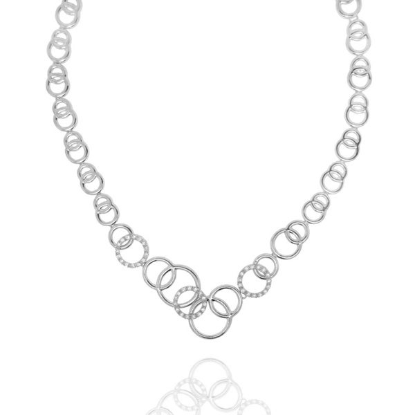 Gioelli Sterling Silver Cubic Zirconia Rings Necklace