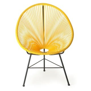 Design Tree Home Acapulco Yellow Lounge Chair (China)