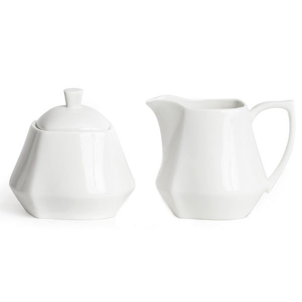 Red Vanilla Niagra White Covered Sugar Bowl and Creamer Set