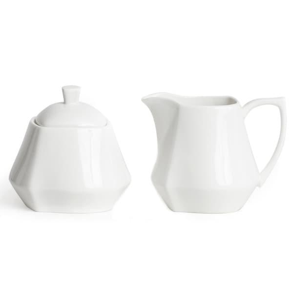 Red Vanilla Niagra White Covered Sugar Bowl and Creamer Set
