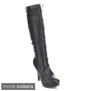 Forever Women's 'Della-80' Knee-high Platform Boots