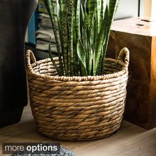 Water Hyacinth Channeled Basket (Vietnam)