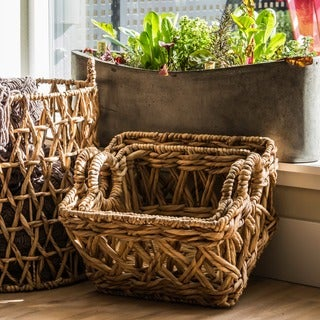 Water Hyacinth Entwined Basket (Vietnam)