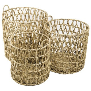 Water Hyacinth Quilted Hamper (Vietnam)
