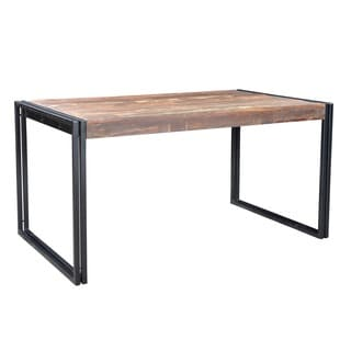 Reclaimed Wood Dining Table with Iron Legs (India)
