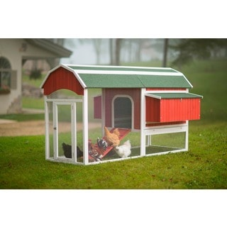 Prevue Pet Products Large Red Barn Chicken Coop 466
