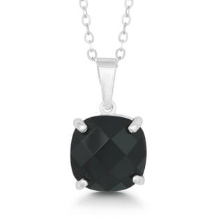 La Preciosa Sterling Silver Faceted Onyx Pendant