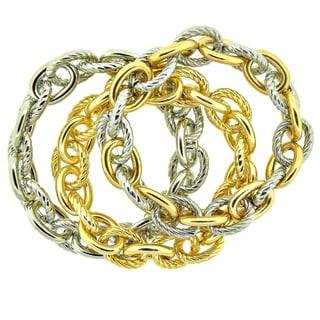 KC Signatures Goldplated Sterling Silver Classic Link Stretch Bracelet