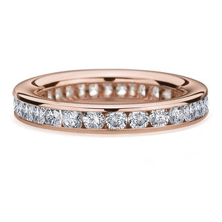Amore 14k/ 18k Rose Gold 1 1/2ct TDW Channel-set Diamond Wedding Band (G-H, SI1-SI2)
