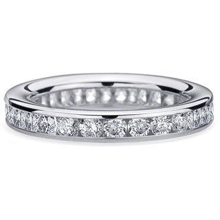 Amore 14k or 18k White Gold 1 1/2ct TDW Channel-set Diamond Wedding Band (G-H, SI1-SI2)