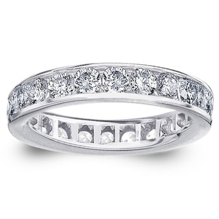 Amore 14k or 18k White Gold 2ct TDW Channel-set Diamond Wedding Band (G-H, SI1-SI2)