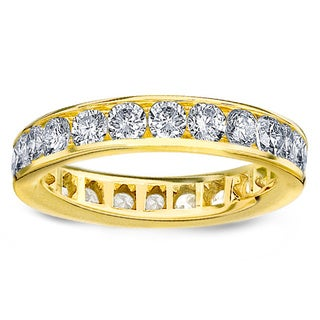 Amore 14k or 18k Yellow Gold 2ct TDW Channel-set Diamond Wedding Band (G-H, SI1-SI2)