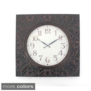 Scroll-texture Metal Wall Clock