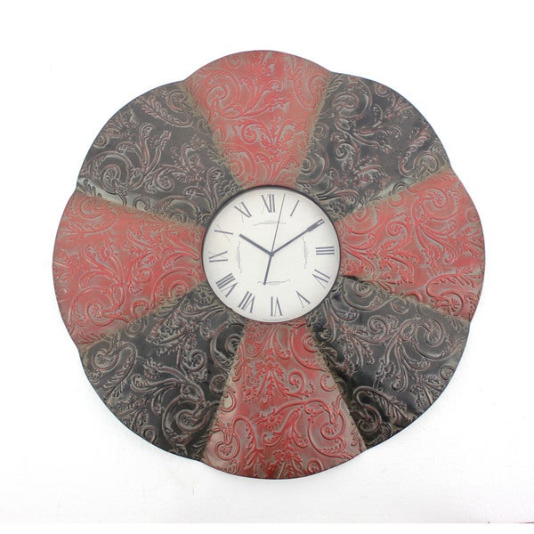 Alternating-tone Round Metal Wall Clock