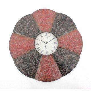 Alternating-tone Round Metal Wall Clock