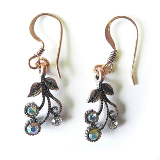 Palmtree Gems 'Babette' Copper Flower Dangle Earrings