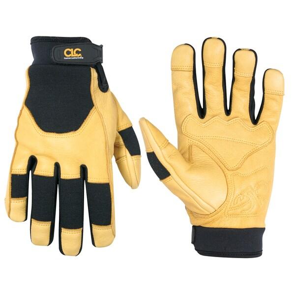 Deerskin Medium Black/ Yellow Gloves