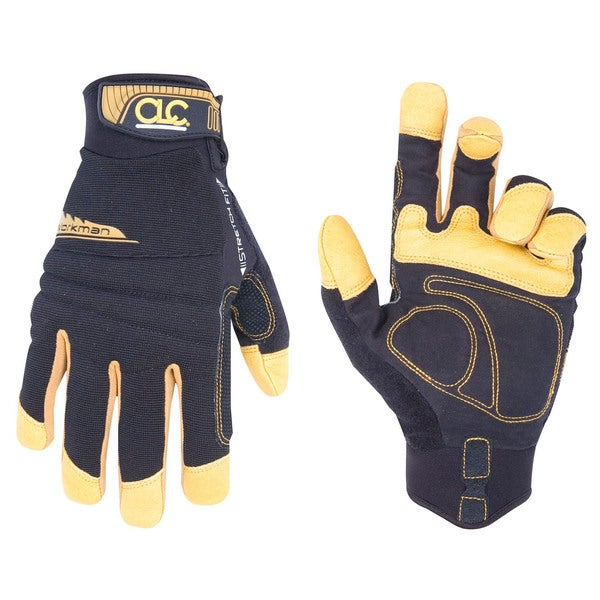 Workman Medium Black/ Yellow Gloves