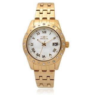 Invicta Women's 17488 Stainless Steel 'Angel' Rhinestone Chronograph Watch