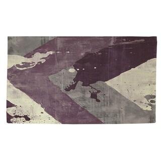 Thumbprintz Splatter No I Purple Rug (2' x 3')
