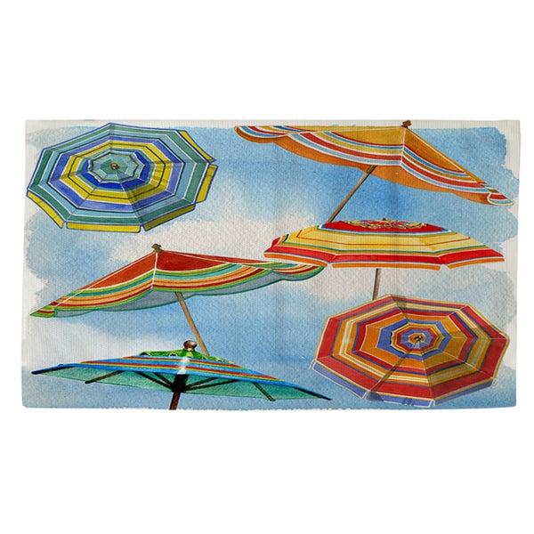 Thumbprintz Blue Skies Umbrellas Rug (2' x 3')
