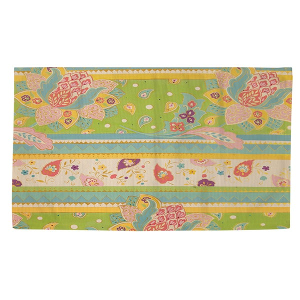 Thumbprintz Floral Stipe With Jacobean Rug (2' x 3')