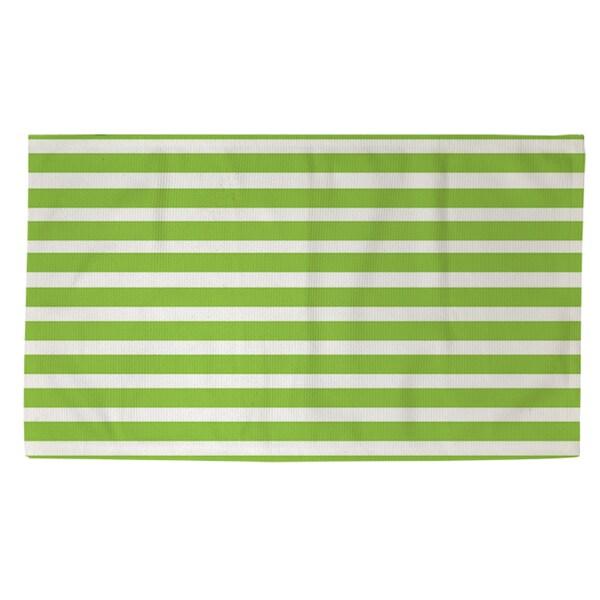 Thumbprintz Bright Stripes Kiwi Rug (2' x 3')