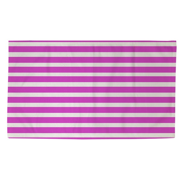 Thumbprintz Bright Stripes Pink Rug (2' x 3')