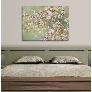 Large Printed 'Into the Cherry Blossom' Framed Gallery-wrapped Canvas Art