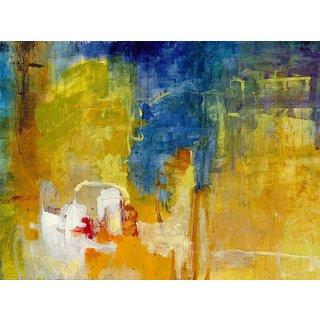 Large Printed 'La Grange' Framed Gallery-wrapped Canvas Art