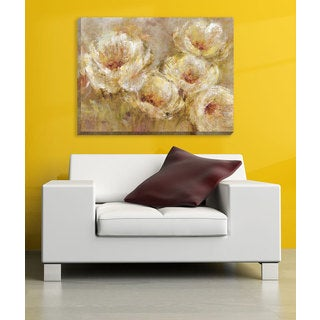 Large Printed 'Poppy Breeze' Framed Gallery-wrapped Canvas Art