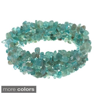Pearlz Ocean Gemstone Chip Stretch Bracelet